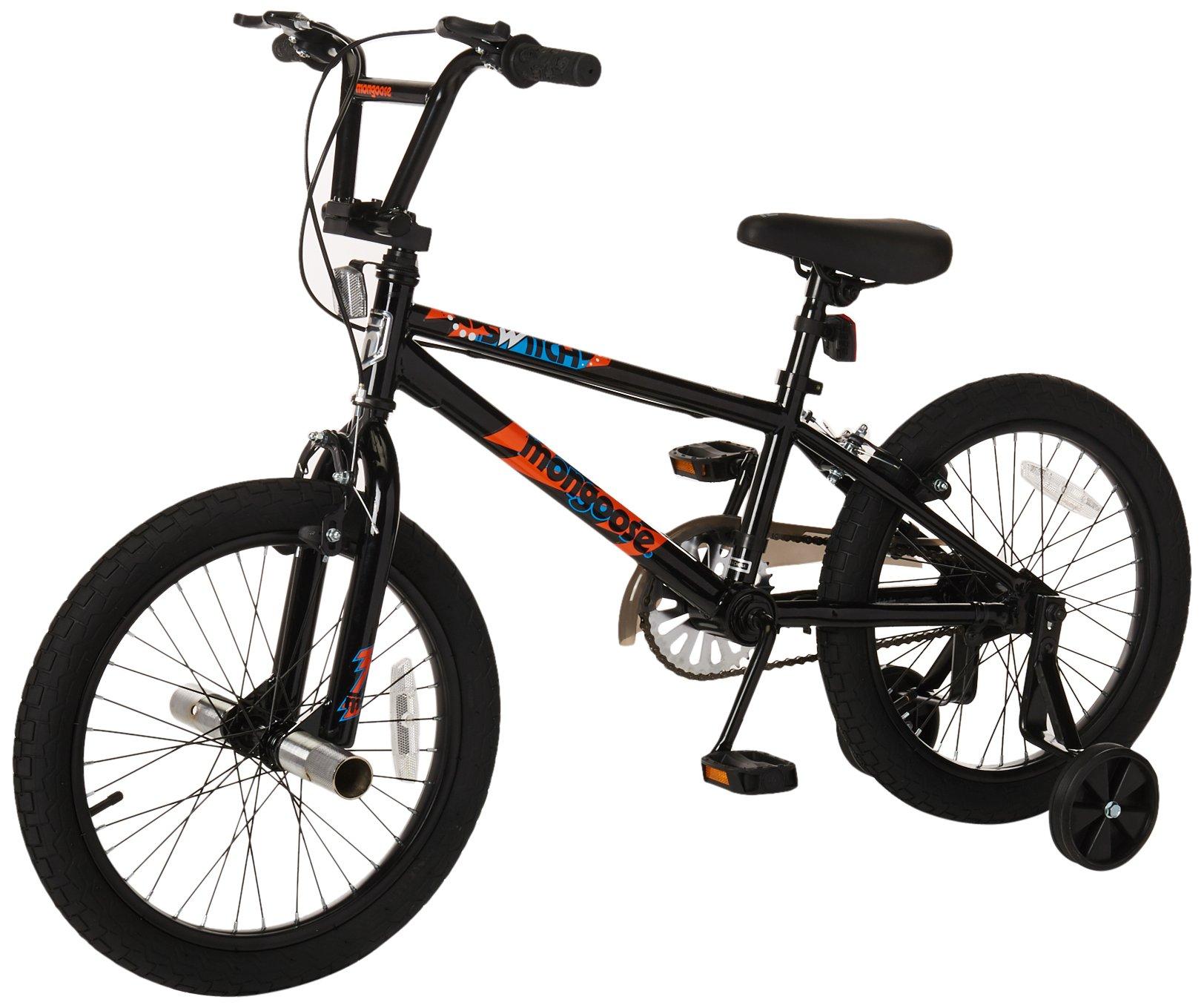 Mongoose Boys Switch 18'' Wheel Bicycle, Black