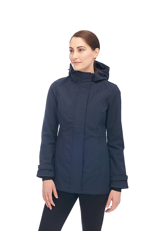Alpine North™ Women's Lightweight Soft-Shell Coat Fleece Lined Warm Hooded Jacket