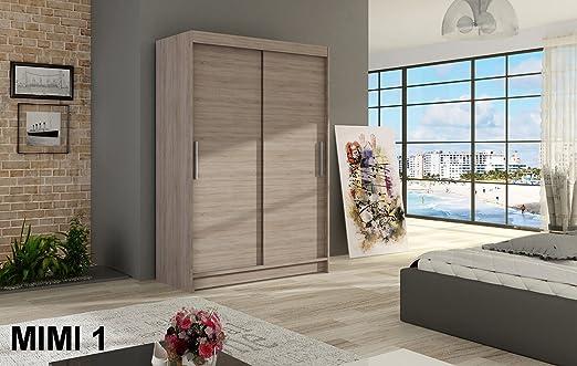 LukaFurnitureCoUk Armario Mimi 1 trufa 120 cm de Ancho 2 Puertas correderas Muchos Colores: Amazon.es: Hogar