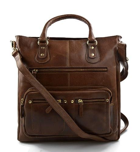 396f9ba79d0a Ladies buffalo leather brown handbag women shoulder bag leather ...