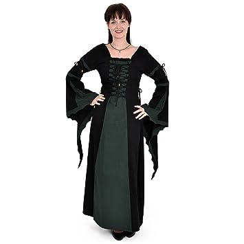 Vestido Medieval Leona - Disfraz medieval mujer - negro y verde - XXXL