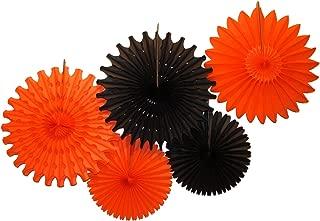 product image for Devra Party 5-Piece Tissue Paper Fans, Halloween Black Orange