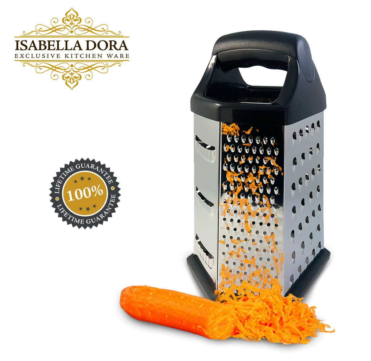 Amazon.com: Isabella Dora Cheese Grater - Perfect Stainless Steel ...