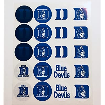 "Set of 20 Decals Duke Blue Devils 2"" Each Adhesive Sticker for Cups, Bags, lockers, Water Bottles, laptops: Kitchen & Dining"