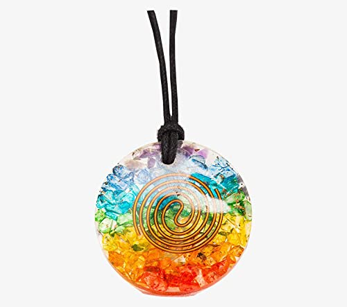 Black Crystal Pendant Resin Crystal Sparkly Crystal Necklace Black Crystal Necklace Black Rainbow Crystal Necklace
