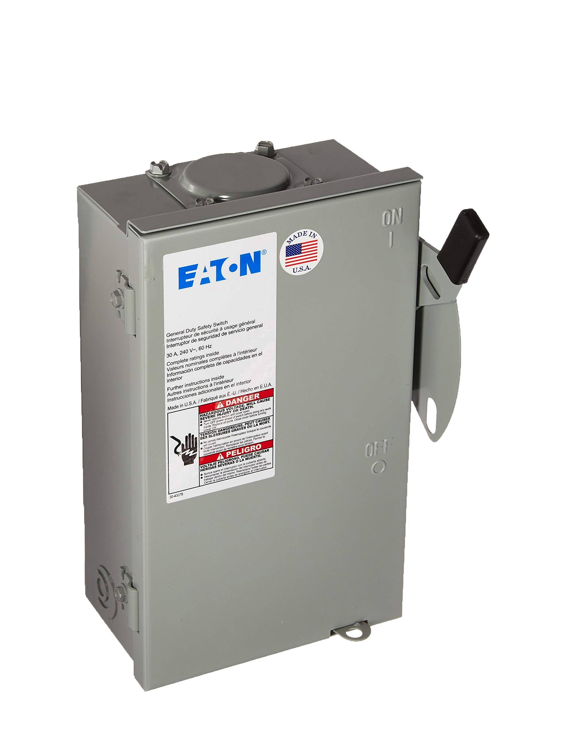Eaton Corporation Dg221Nrb Outdoor Safety Switch, 120/240V, 30-Amp