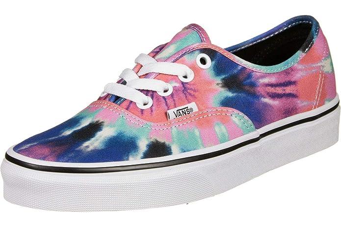 Vans Authentic Sneakers Rosa/Pink Blau Grün Tie Dye (Batik)