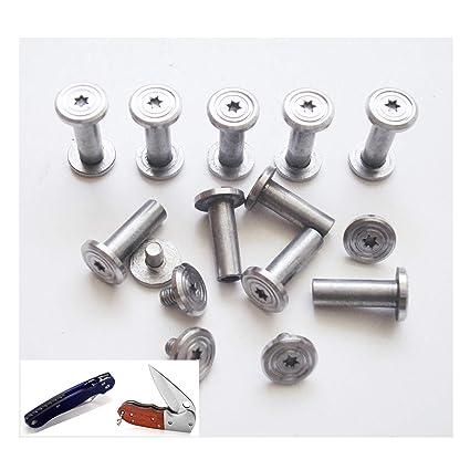 10 sets/lot DIY Cuchillo tactico mango Fasteners, encuadernacion de tornillo, tornillos sujetadores