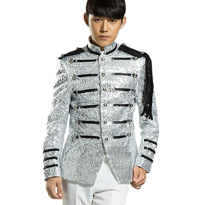 Amazon.com: MYS chamarra Bling Equestrian para hombre fiesta ...