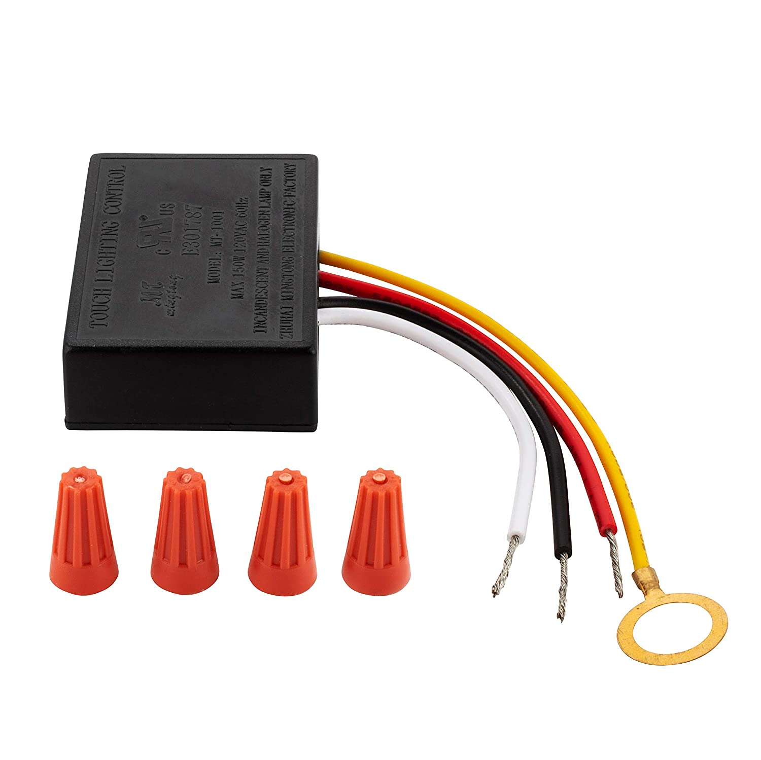 3 Way touch sensor dimmer, touch lamp repair kit control module, replacement sensor, touch switch, 150Watt.