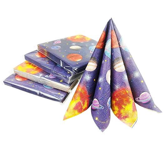 Hangnuo espacio exterior planeta servilletas, artículos para ...