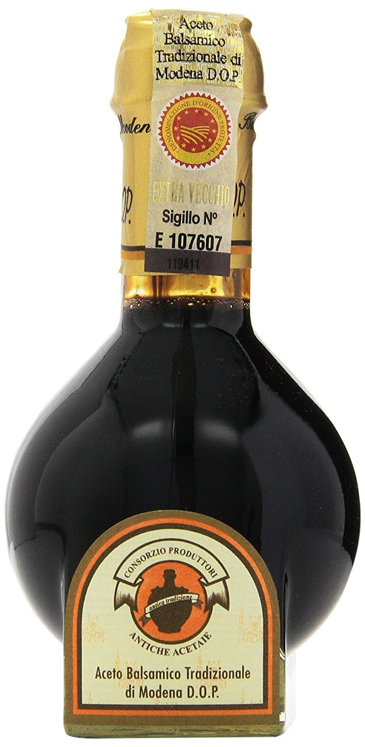Academia Barilla Traditional Balsamic Vinegar of Modena Extra Vecchio, Aged 25 Years, 3.4-Ounce Glass Bottles (Pack of 2)
