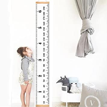 Amazon.com: Infant Baby Height Growth Chart Roll Up Hanging Wood ...
