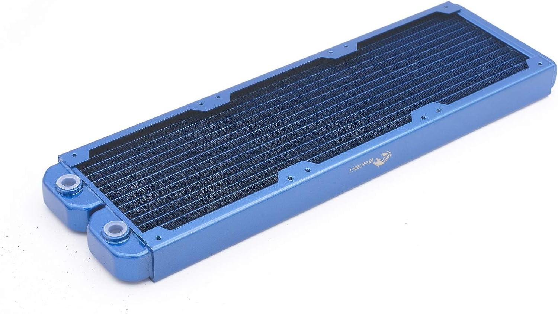 Bykski B-RD360-TN 3x12cm 360mm Copper Radiator Water Cooling Blue