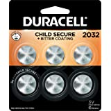 Duracell 2032 Lithium Coin Battery 3V | Bitter Coating Discourages Swallowing | Child-Secure Packaging | Long-Lasting Power |