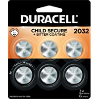 Duracell - 2032 3V Lithium Coin Battery - with Bitter Coating - 6 Count