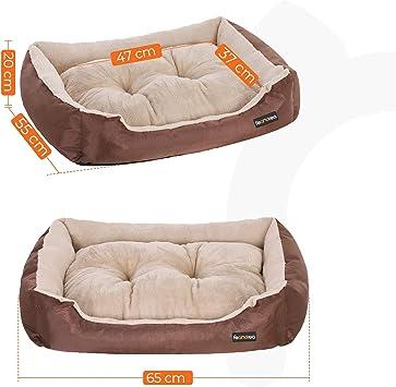 Cuna para Perritos Sof/á para Perro Queta Cama para Perros Gatos 46cm Coj/ín Suave Comfortable para Mascotas Invierno Gris