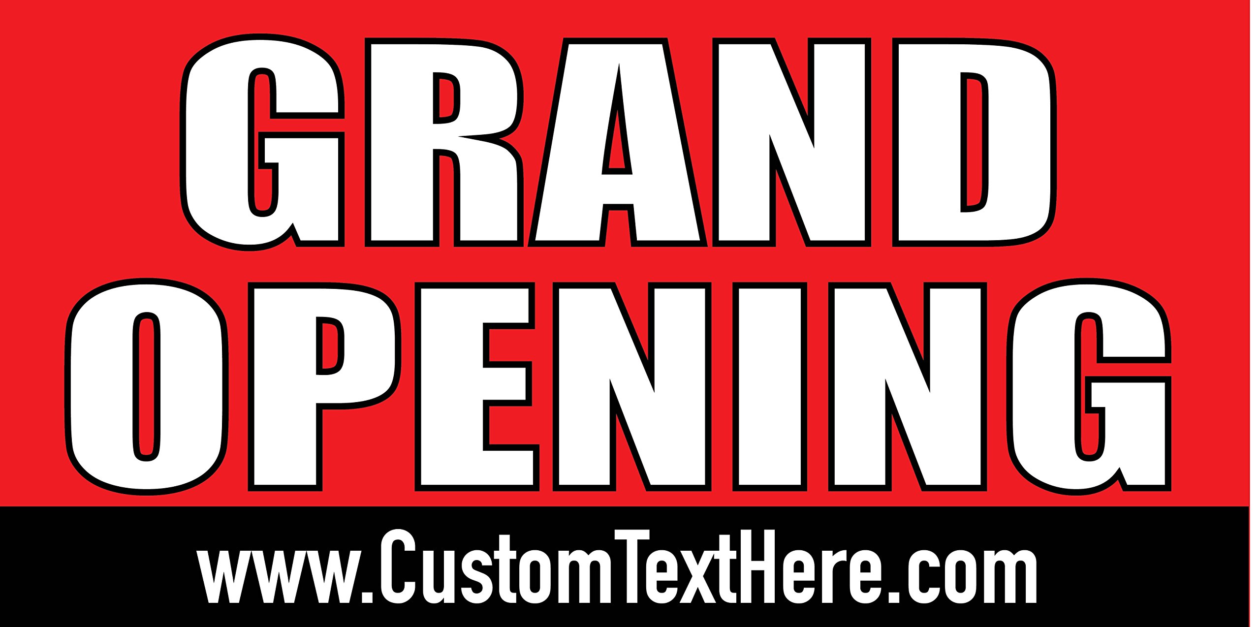 Custom Printed Grand Opening Banner - Red (10' x 5') by Reliable Banner Sign Supply & Printing