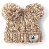 [ベルメゾン] ディズニー ダブル ポンポン ニット帽 ミッキーマウス ベージュ系