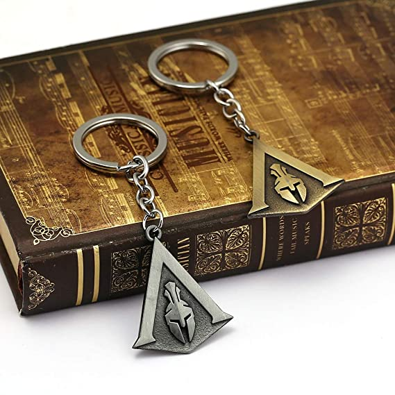 Mct12 - Assassins Creed Keychain Odyssey New Game assassins Key Chain Key Holder Porte Clef Llaveros Hombre