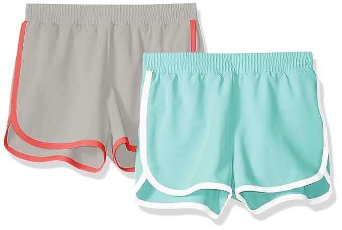 760eb8c1 Amazon Essentials Girls' 2-Pack Active Running Short