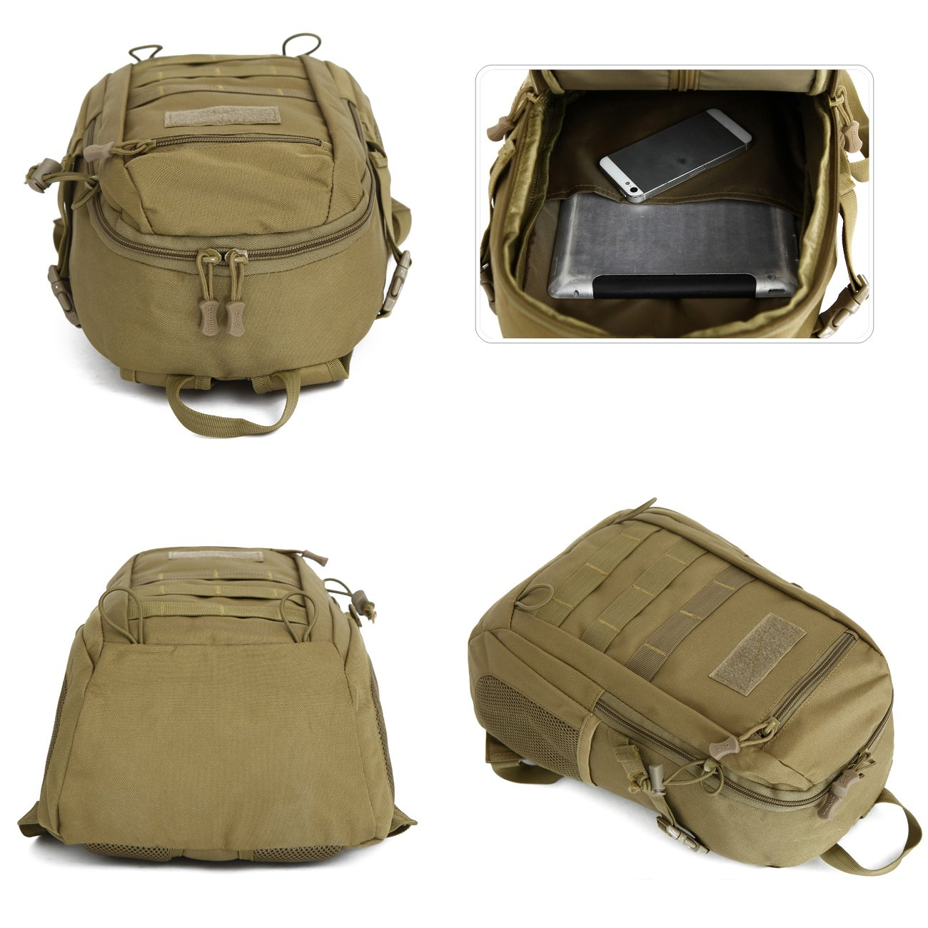 ce8698af77a7 Details about Military Tactical Backpack 2Styles Rucksack Bag For School  Camping Hiking Travel