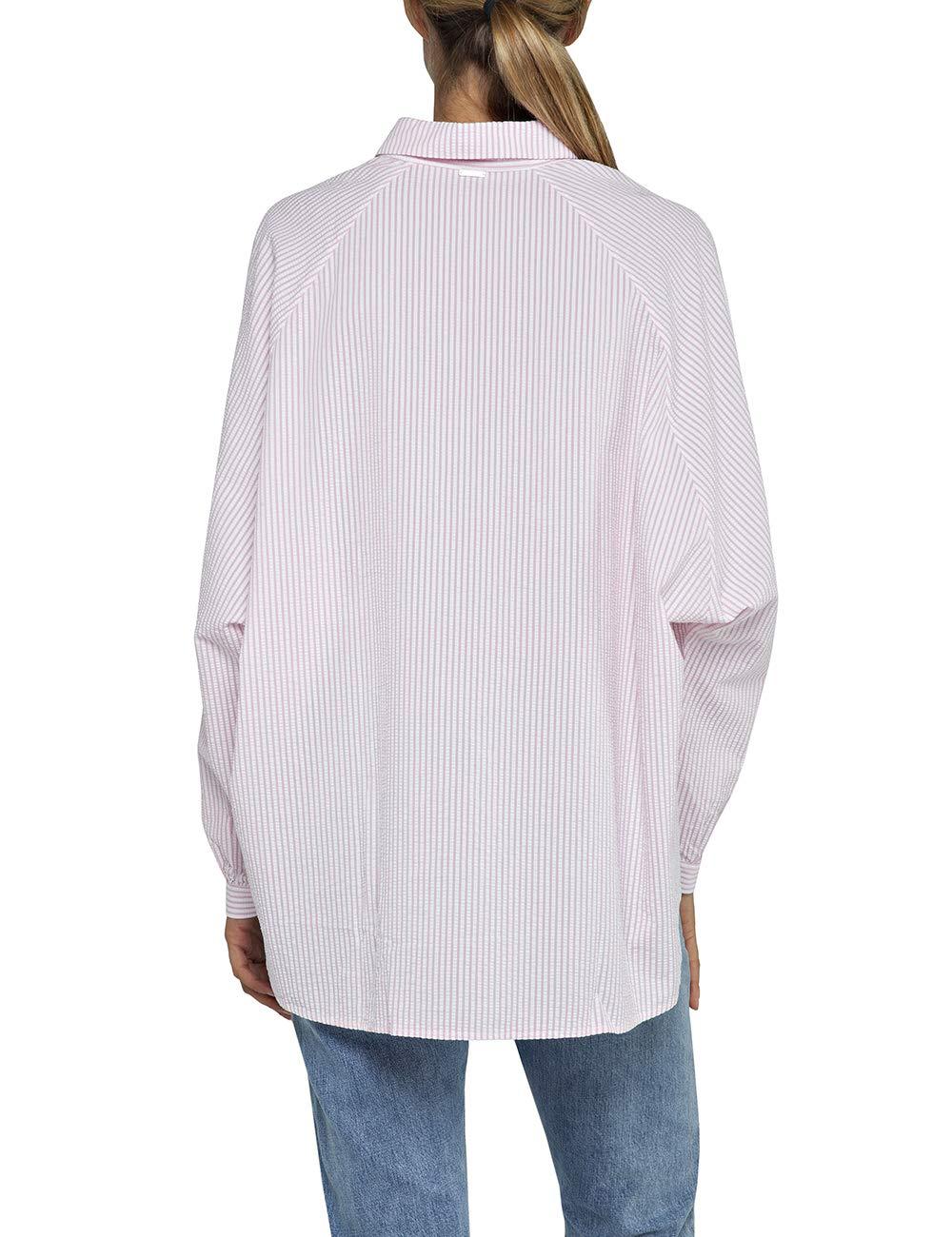 Replay dam blus Flerfärgad (White/Pink Stripe 10)
