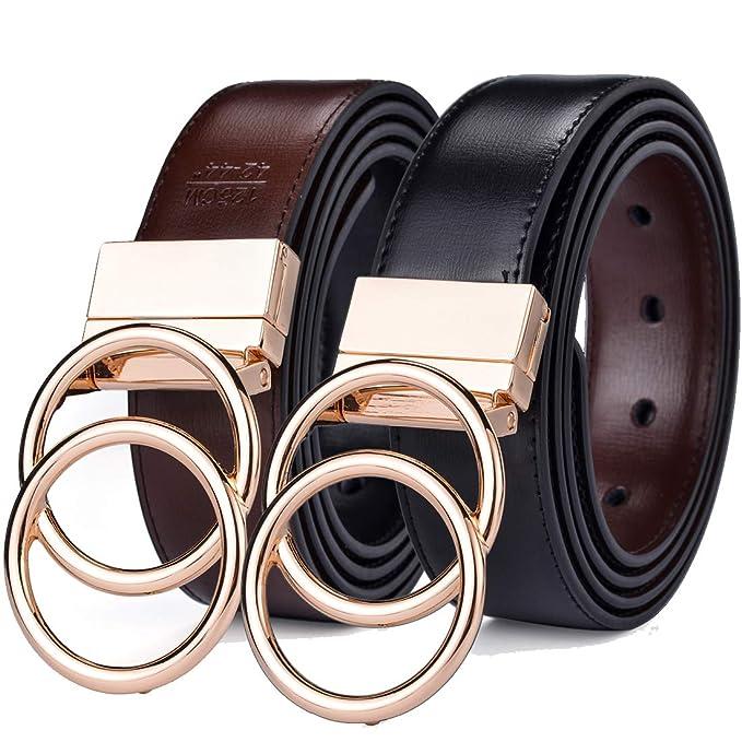 Amazon.com: Beltox - Cinturón de piel reversible para hombre ...