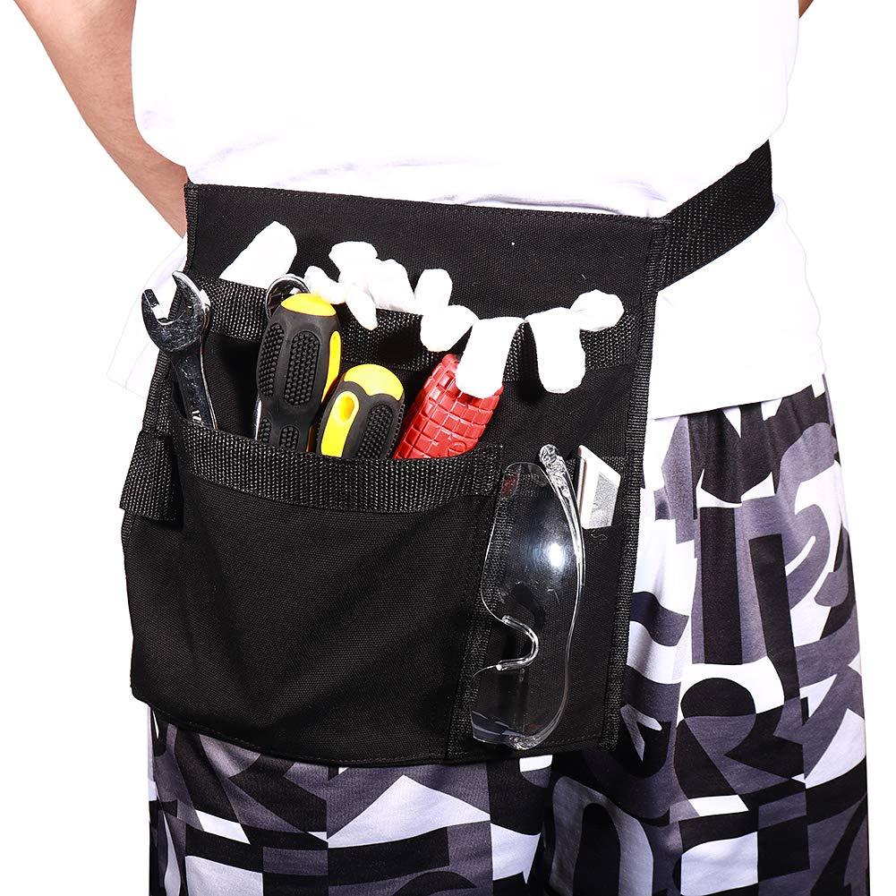 Bolsa de herramientas de delantal de un solo lado de lona con 5 bolsillos y cintur/ón de cintura ajustable esposo pap/á regalo de herramientas para hombres manitas de bricolaje