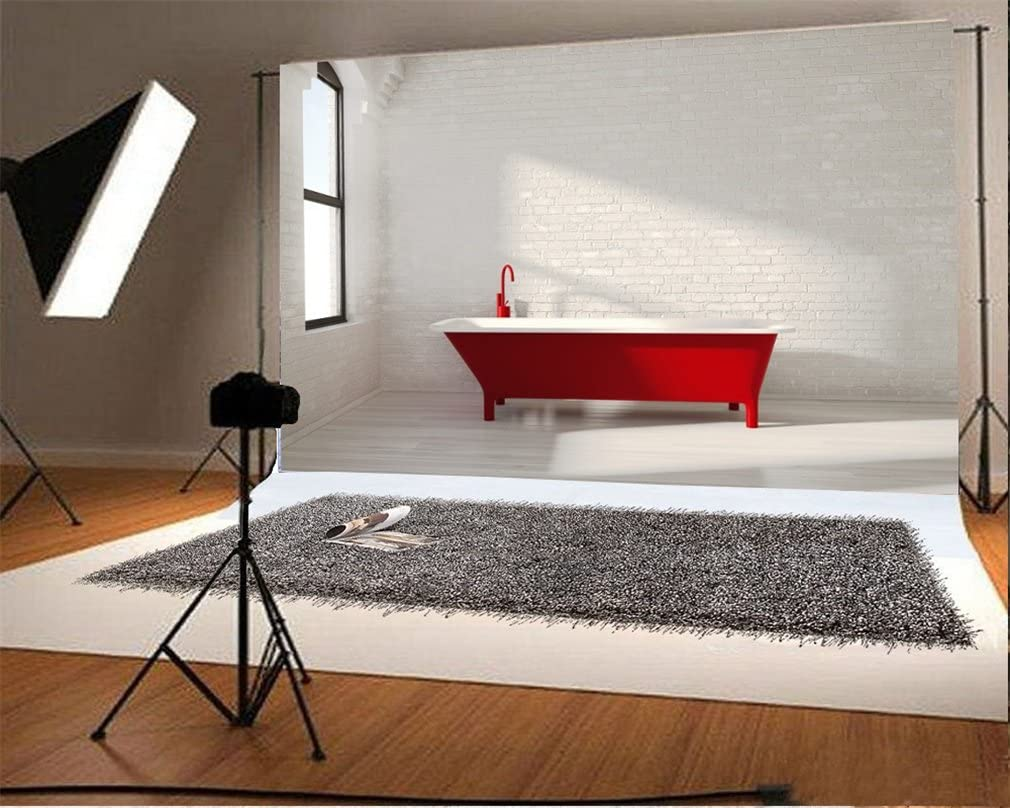 YongFoto 19x19m Vinyle Toile de Fond Intérieur Salle de bain