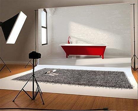 Vasca Da Bagno Rossa : Yongfoto m vinile sfondo fotografico interni bagno rosso vasca
