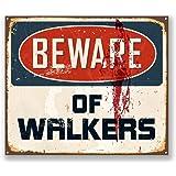 2x Beware of Walkers Sticker voiture iPad Ordinateur Portable en panneau Fun Zombie # 5732 - 10cm/100mm Wide