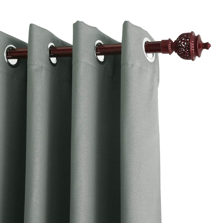 Deconovo Lot de 2 Rideaux Chambre Occultants Thermique Gaufré pour Salon Design Moderne Opaque Isolation Thermique à Oeillets Solides 140x175cm Bleu Marine