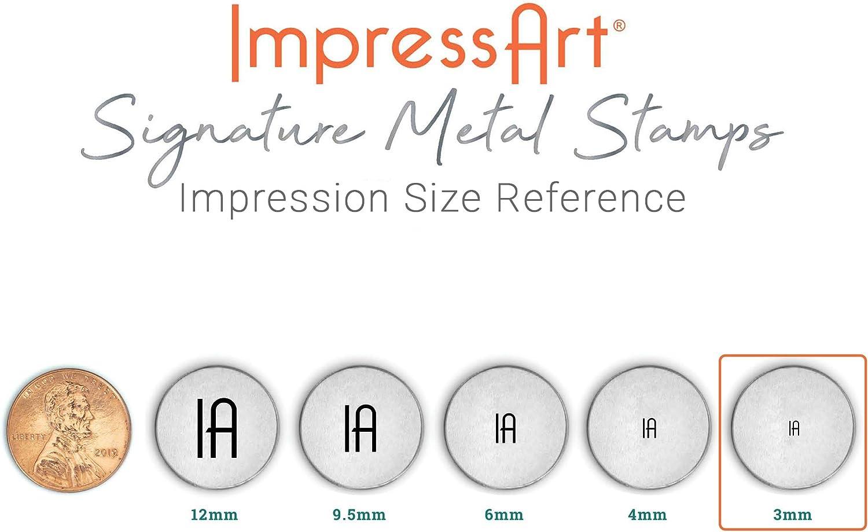 ImpressArt Signature Small Paw Print Design Stamp 3mm