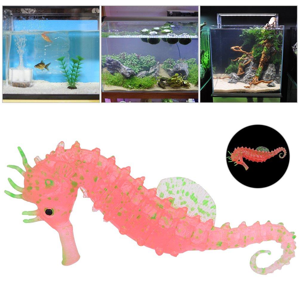 Petacc Decoración del acuario Luminoso Adorno Pecera Decoraciones Acuáticas Artificiales Fluorescentes, Rojo: Amazon.es: Productos para mascotas
