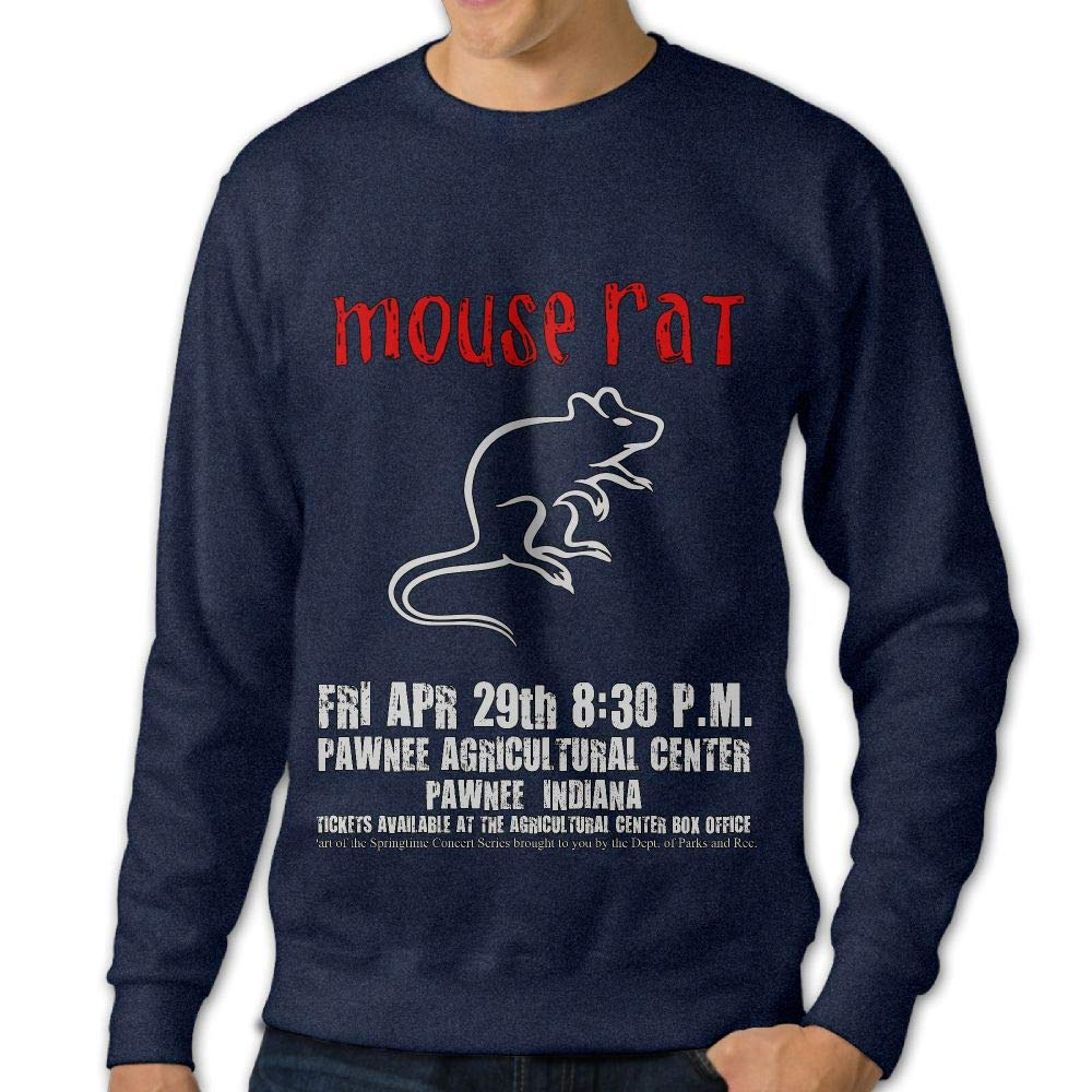 LLiYing-D Parks and Recreation Mouse Rat Circle Adult Mens Sports Long Sleeve Hoody T-Shirts