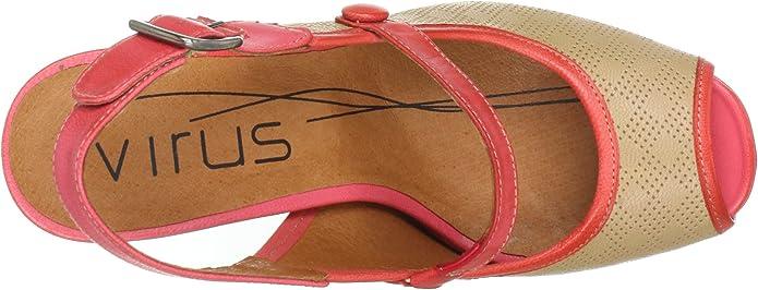 Virus Moda 910505 - Zapatos de tacón de Cuero para Mujer, Color marrón, Talla 36: Amazon.es: Zapatos y complementos