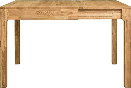 Nordicstory Marsi Tavolo Da Pranzo Allungabile A Libro 85 125 Cm In Legno Massello Di Quercia Ideale Per Cucina Salotto Terrazza Mobili In Stile Nordico Rovere Naturale Amazon It Casa E Cucina