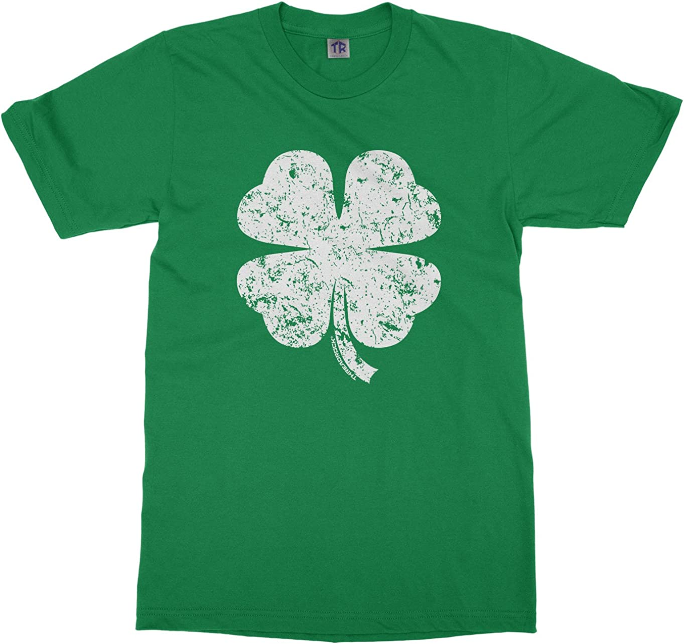 boys 10//12 green THIS IS MY LUCKY SHIRT top tee clover cotton short sleeve @@
