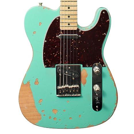 Diente de Sierra hecha a mano americana et reliquia cuerpo guitarra ...