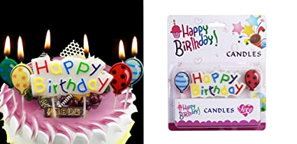 Amazon T Shin Happy Birthday CandlesCake CandlesBalloons