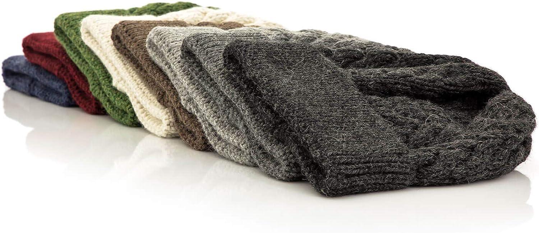 Hochwertige Winter Strickm/ütze//Beanie Wollm/ütze von HansaFarm Weiche Damen Alpaka M/ütze aus 100/% Alpaka Wolle in 6 Farben