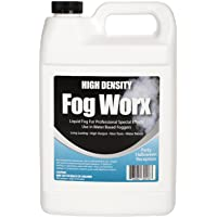 FogWorx Extreme High Density Fog Juice Gallon - Long Lasting, High Output, Odorless Water Based Fog Machine Fluid - for…