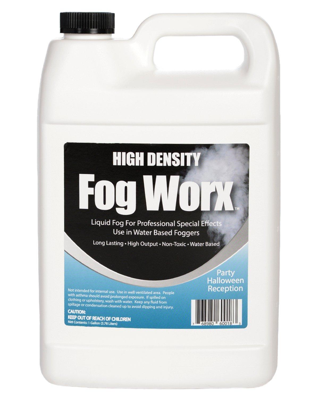 FogWorx Fog Juice - High Output Long Lasting Fog Machine Fluid (HD Gallon)
