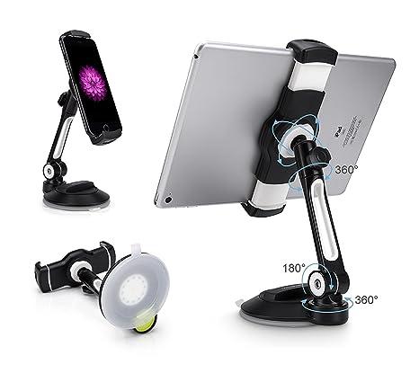3cc1bbe7d1c688 AboveTEK Suction Cup Cell Phone Holder, Large Sticky Pad Tablet Mount on  Kitchen Desk Office