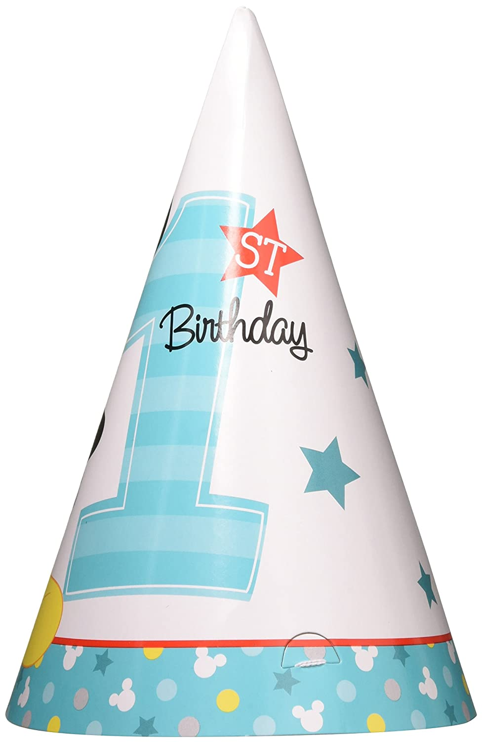 TradeMart Inc Amscan Disney Mickeys Fun to be One Paper Cone Hats 48 Ct Birthday 251833