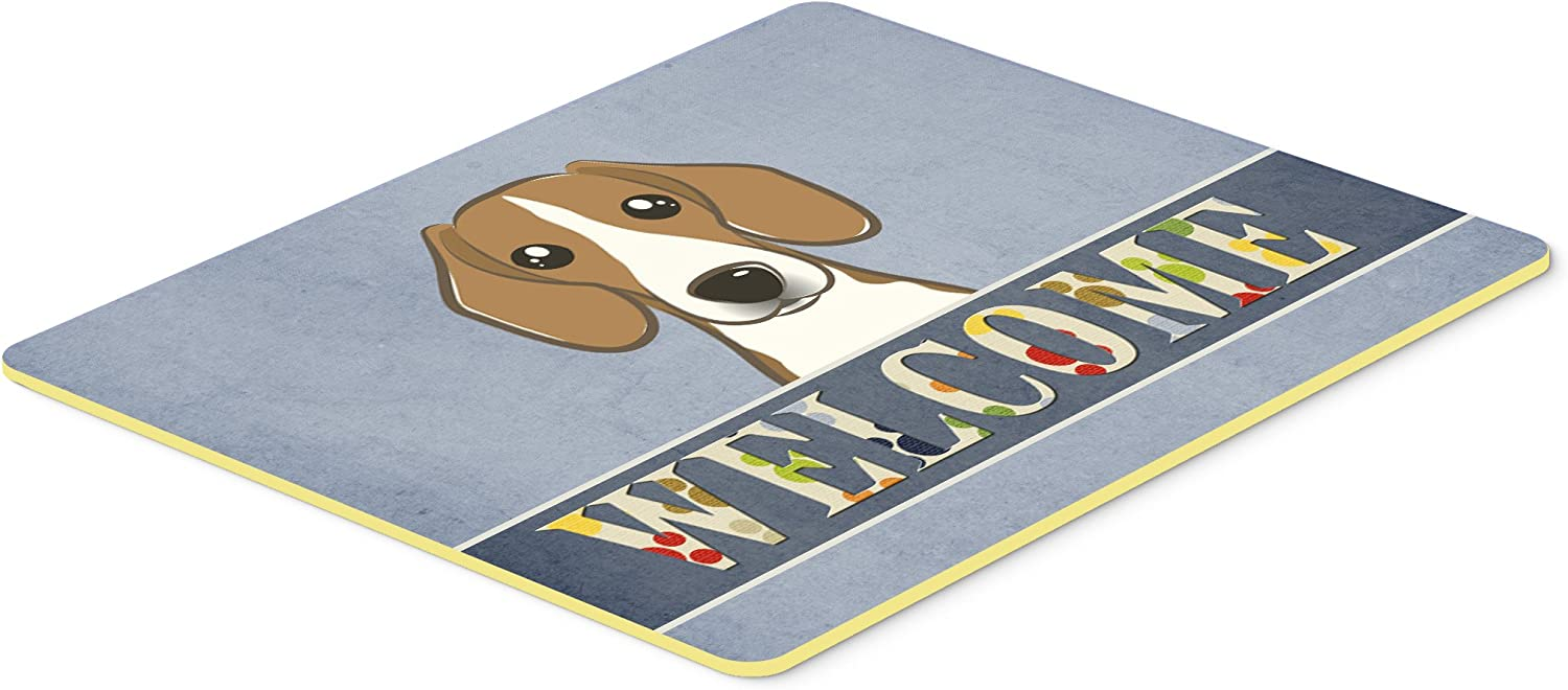 Multicolor Carolines Treasures BB1425JCMT Beagle Welcome Kitchen or Bath Mat 24 by 36