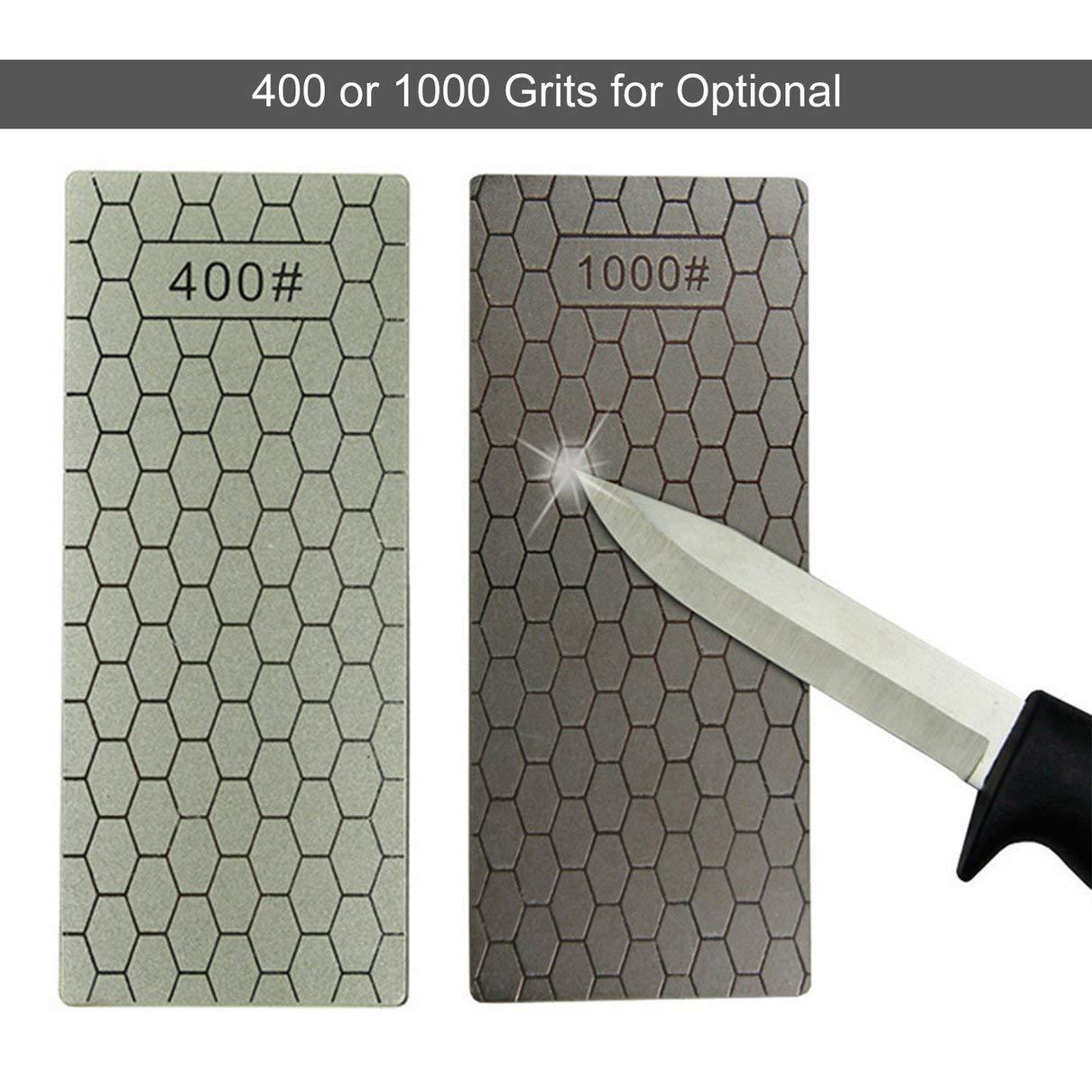 gris Togames 400//1000 Granos Cuchillos de piedra de afilado de diamantes finos Placa de diamante Afilador de cuchillos de piedra de afilar Afilador Herramientas de afilar
