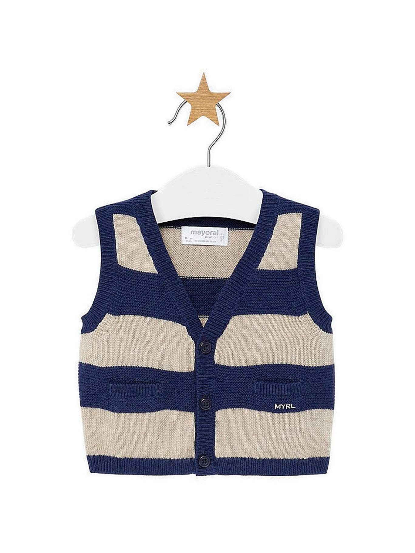 Mayoral 19-02310-063 - Knitting Vest for Baby-Boys 2-4 Months Nay-Dune by Mayoral