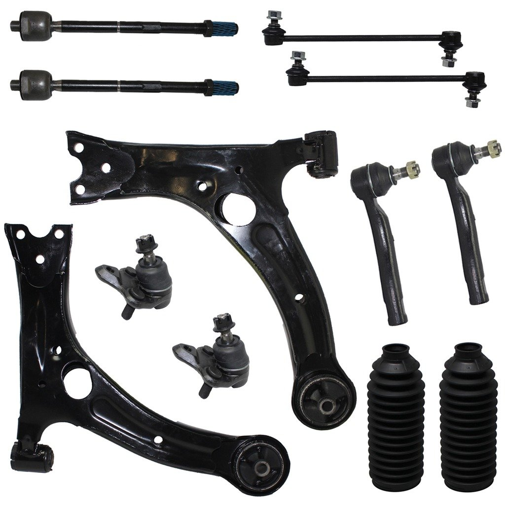 NOT FOR JAPAN MADE MODELS 4 2 2 Front Inner /& Outer Tie Rod Ends All Front Sway Bar End Links 12-Piece Front Suspension Kit - Front Lower Ball Joints, Front Lower Control Arms, 2